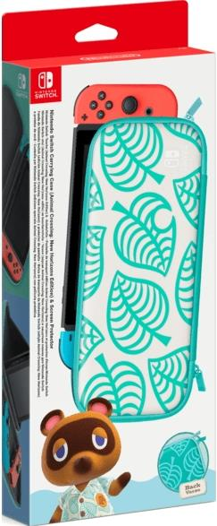 Nintendo Switch-Tasche (Animal Crossing: New Horizons-Edition) & -Schutzfolie