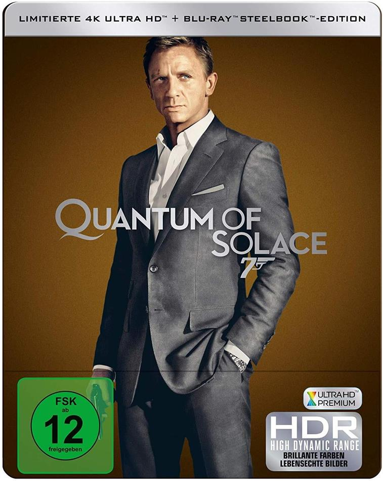 James Bond: Ein Quantum Trost (2008) (Edizione Limitata, Steelbook, 4K Ultra HD + Blu-ray)