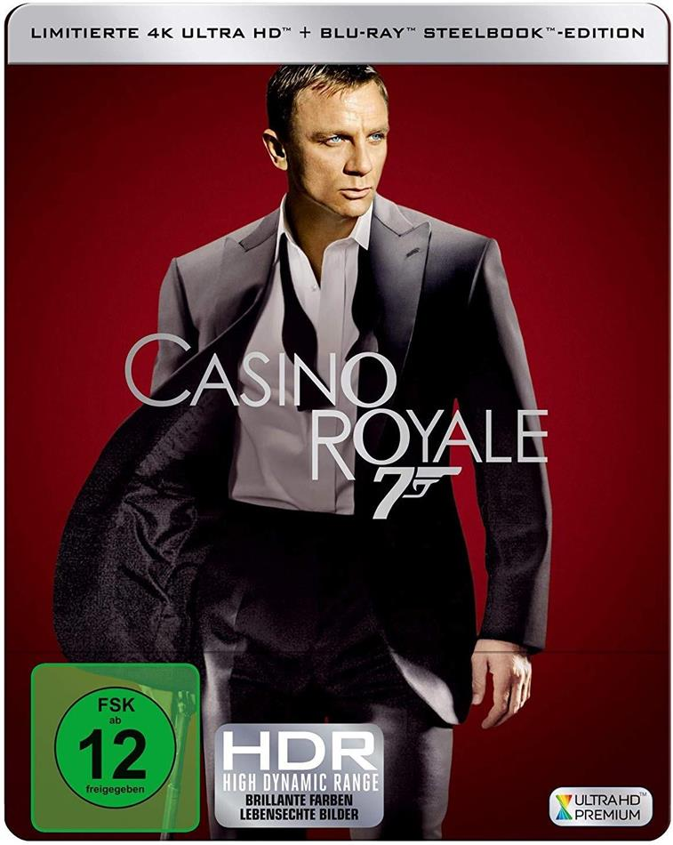 James Bond: Casino Royale (2006) (Limited Edition, Steelbook, 4K Ultra HD + Blu-ray)