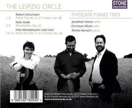 Phoenix Piano Trio, Robert Schumann (1810-1856), Niels Wilhelm Gade (1817-1890) & Felix Mendelssohn-Bartholdy (1809-1847) - Leipzig Circle