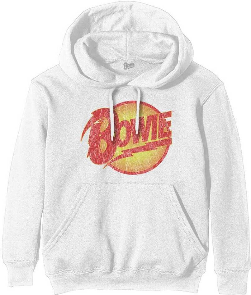 David Bowie Pullover Hoodie - Vintage Diamond Dogs Logo - Size M