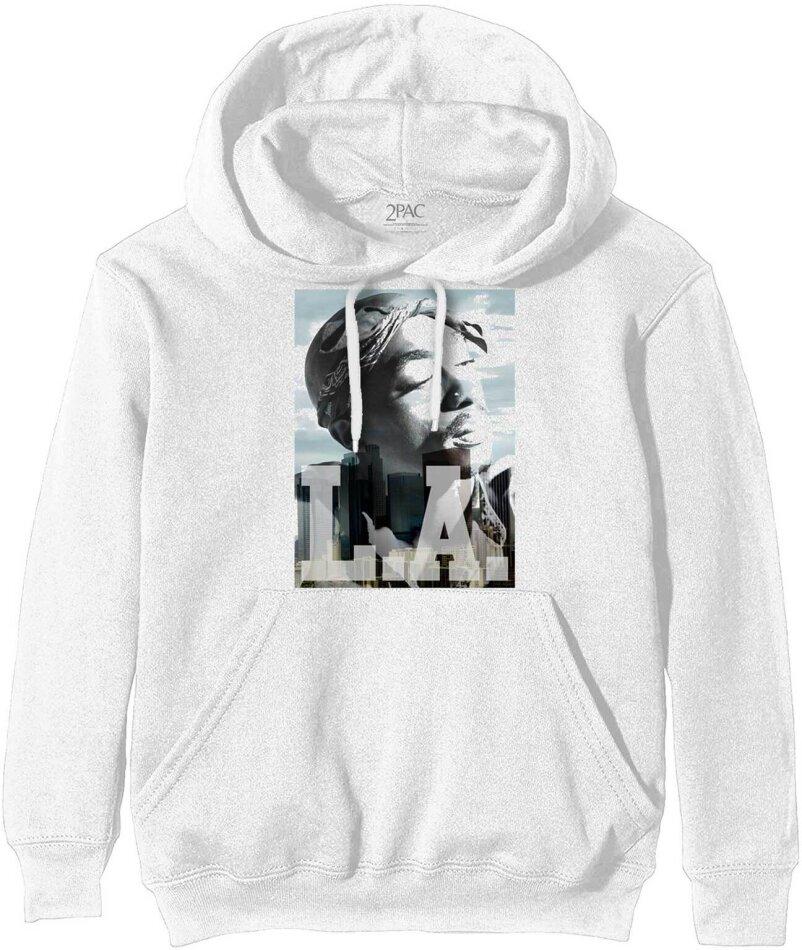 Tupac Pullover Hoodie - LA Skyline - Size M