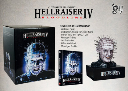 Hellraiser 4 - Bloodline (1996) (+ T-Shirt, + Büste, Limited Edition, Mediabook, 4K Ultra HD + Blu-ray + DVD + CD)