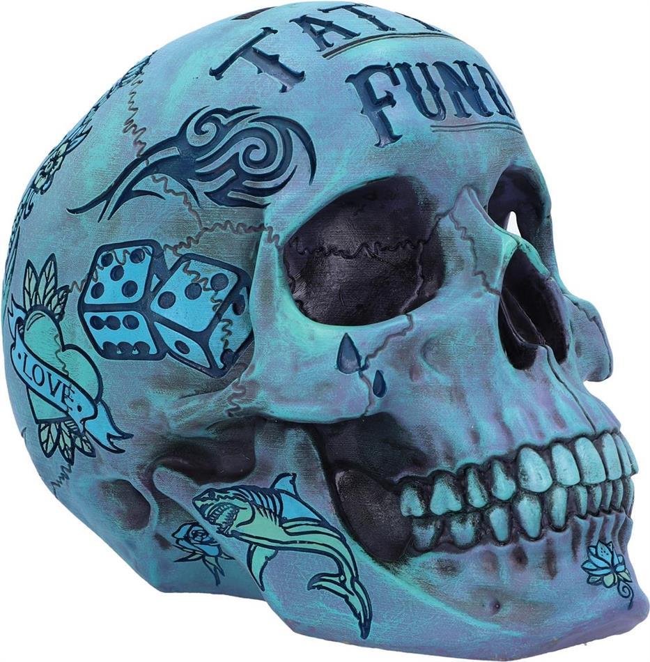 Generic Piggy Bank - Tattoo Fund (Blue)