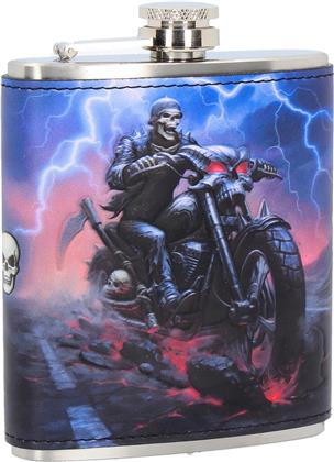 Generic Hip Flask - HELL ON THE HIGHWAY (7oz HIP FLASK)