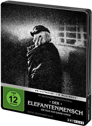 Der Elefantenmensch (1980) (Arthaus, Edizione Limitata, Edizione Restaurata, Steelbook, 4K Ultra HD + 2 Blu-ray)