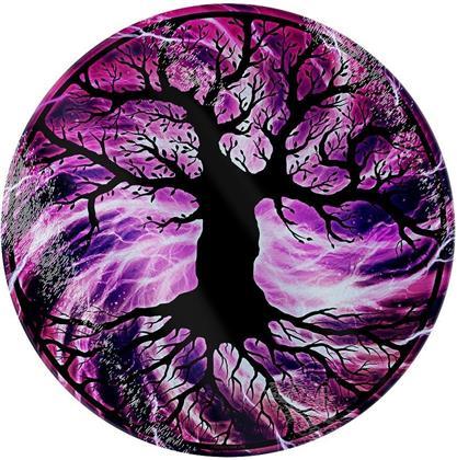 The Tree of Life - Circular Glass Chopping Board