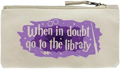 When In Doubt Go To The Library - Pencil Case