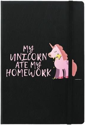 My Unicorn Ate My Homework - A5 Hard Cover Notebook