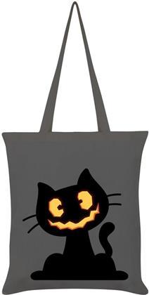 Pumpkin Kitten - Graphite Grey Tote Bag