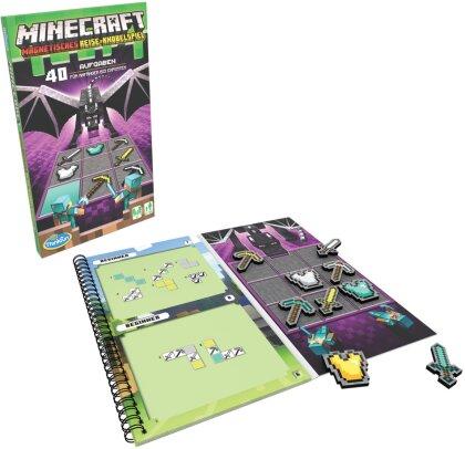 ThinkFun - 76402 - Minecraft - Das magnetische Reisespiel. Perfekt für die Reise und als Geschenk! Ein Logikspiel nicht nur für Minecraft-Fans