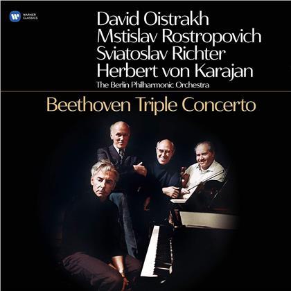 David Oistrakh, Mstislav Rostropovitsch, Sviatoslav Richter, Herbert von Karajan, Ludwig van Beethoven (1770-1827), … - Tripelkonzert (LP)