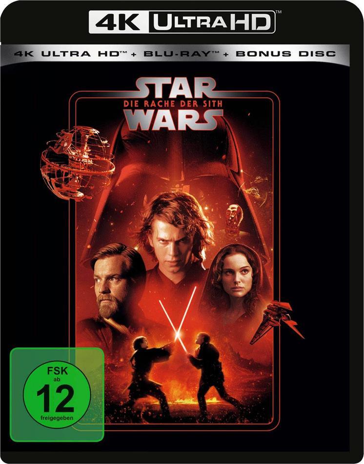 Star Wars - Episode 3 - Die Rache der Sith (2005) (Line Look, 4K Ultra HD + 2 Blu-rays)