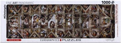 Michelangelo: Sistine Chapel Pano - 1000 Piece Puzzle