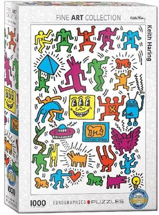 Keith Haring: Collage - 1000 Teile Puzzle