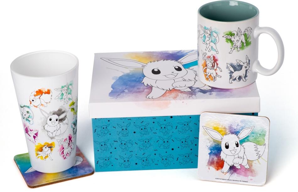 Pokemon: Eevee Gift Set - Mug & Glass & 2 Coasters