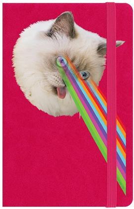 Crazy Laser Kitten - A6 Hard Cover Notebook