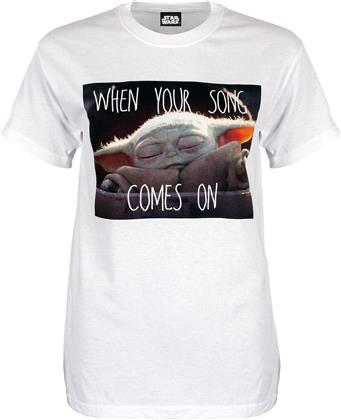 Star Wars: The Mandalorian - When Your Song Comes On - Ladies Boyfriend T-Shirt