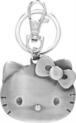 Hello Kitty Head Pewter Key Ring