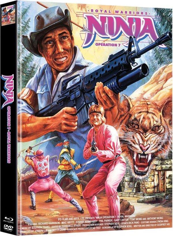 Ninja Operation 7 - Royal Warriors (1988) (Cover B, Limited Edition, Mediabook, Blu-ray + DVD)