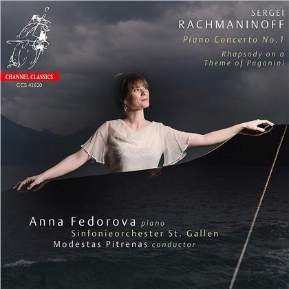 Anna Fedorova, Sergej Rachmaninoff (1873-1943), Modestas Pitrenas, Anna Fedorova & Sinfonieorchester St. Gallen - Piano Concerto No.1, Rhapsody On A Theme By Paganini