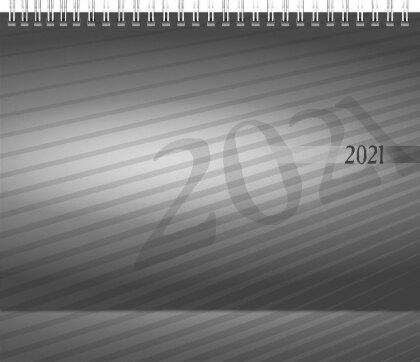 rido Tischkalender 2021 Karton-Aufsteller mit verlängerter Rückwand - 24 x 17 cm