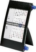 rido Tischkalender 2021 - 3-Monatskalender Drehknopf blau