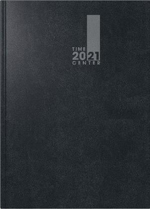 Monatskalender/Buchkalender TimeCenter Modell 726, 14,8 x 21 cm, A5, 2021 - Baladek-Einband schwarz