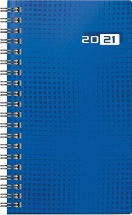 Taschenkalender Modell Taschenplaner int., 2021 - Grafik-Einband blau
