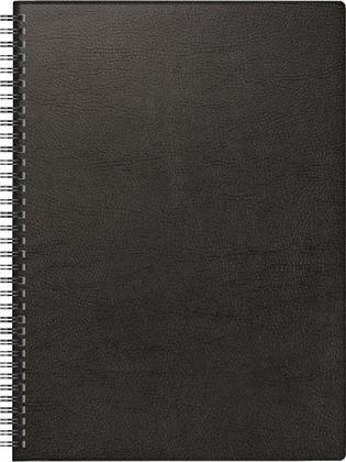 Buchkalender Modell 781 , A4, 2021 - Kunststoff-Einband schwarz