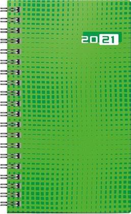 Taschenkalender Modell Taschenplaner int., 2021 - Grafik-Einband grün