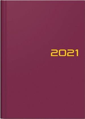 Buchkalender Modell 796, 2021 - Balacron-Einband bordeaux