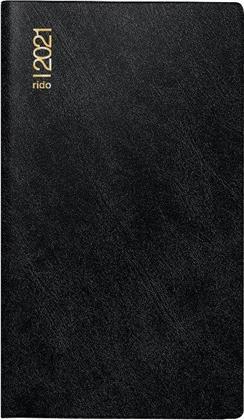 Monatskalender/Taschenkalender/Faltkalender Modell Miniplaner d 15, Blattgröße 8,7 x 15,3 cm, 2021 - Schaumfolien-Einband Catana schwarz