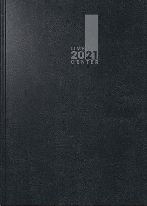 Buchkalender TimeCenter Modell 725 , A5, 2021 - Baladek-Einband schwarz