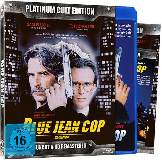 Blue Jean Cop (1988) (Platinum Cult Edition, HD-Remastered, Uncut, Blu-ray + DVD)