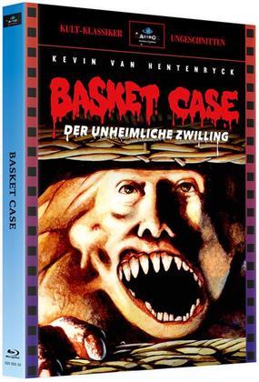 Basket Case - Der unheimliche Zwilling (1982) (Kult-Klassiker Ungeschnitten, Cover A, Limited Edition, Mediabook, 3 Blu-rays)