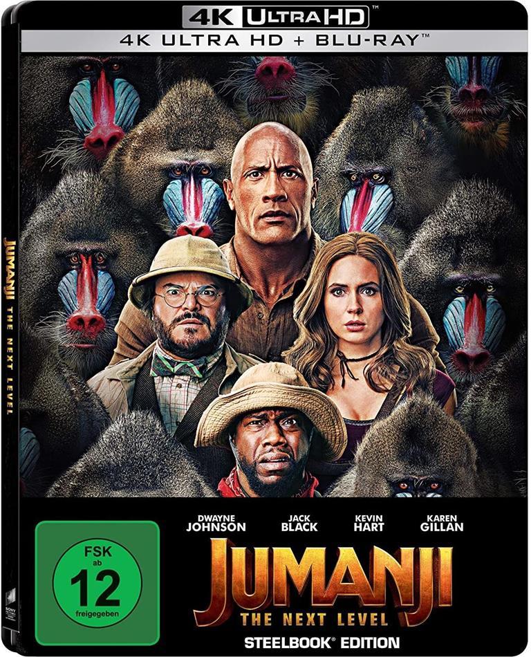 Jumanji 2 - The Next Level (2019) (Limited Edition, Steelbook, 4K Ultra HD + Blu-ray)