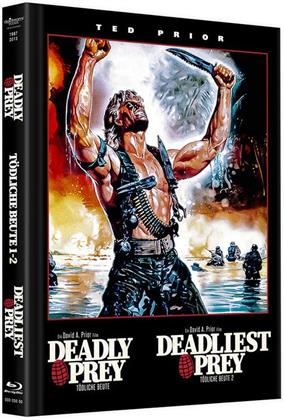 Deadly Prey / Deadliest Prey - Tödliche Beute 1 - 2 (Cover A, Limited Edition, Mediabook, Remastered, Uncut, Blu-ray + 3 DVDs)