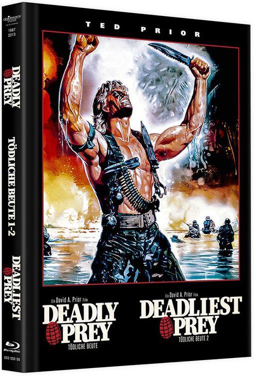 Deadly Prey / Deadliest Prey - Tödliche Beute 1 - 2 (Limited Edition, Mediabook, 4 Blu-rays)