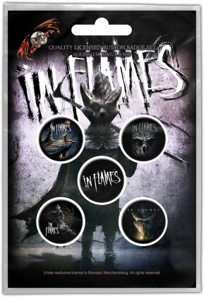In Flames Button Badge Pack - The Mask