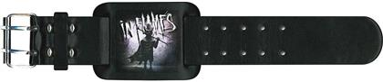 In Flames Leather Wrist Strap - The Mask