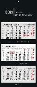 3-Monatskalender 2021 faltbar - Black