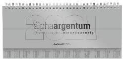 Tisch-Querkalender alpha argentum 2021