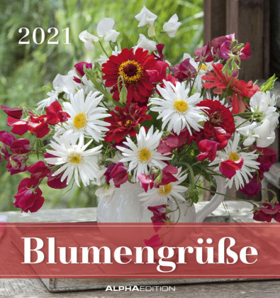 Blumengrüße 2021 - Postkartenkalender