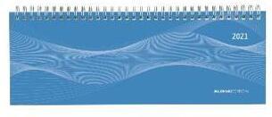 Tisch-Querkalender 1 Woche auf 2 Seiten Profi blau 2021