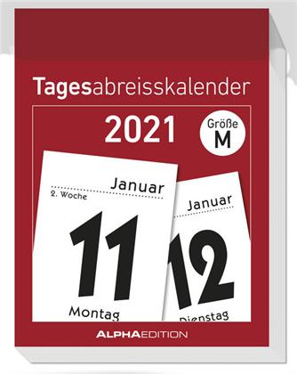 Tagesabreißkalender M 2021