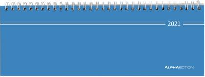 Tisch-Querkalender blau 2021