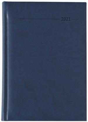 Buchkalender Tucson blau 2021