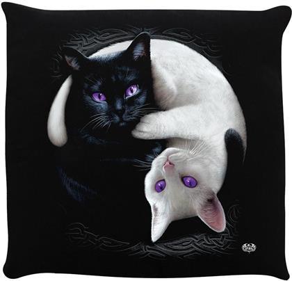 Spiral - Yin Yang Cats - Cushion