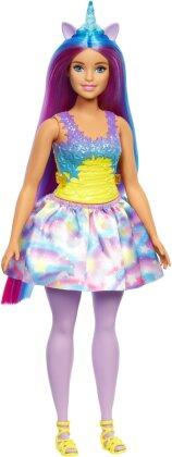 Barbie Fashionistas Jeans- - kleid Regenbogen, Puppe,